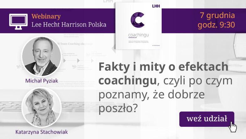 fakty i mity coachingu webinar LHH